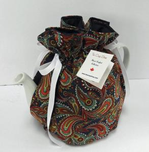 Tall Snuggie- Albert Paisley Tea Cozy with Padded Bottom